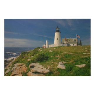 Pemaquid Lighthouse, Maine, USA _Wood Wall Art