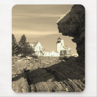 Pemaquid Lighthouse Sepia Mouse Pad