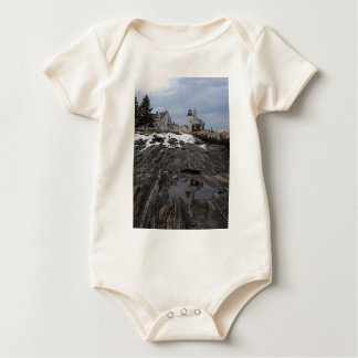 Pemaquid Point in Winter Baby Bodysuit