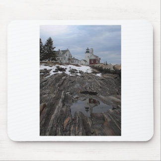 Pemaquid Point in Winter Mouse Pad