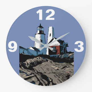 PEMAQUID POINT LIGHT LARGE CLOCK