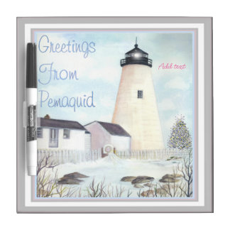PEMAQUID POINT LIGHT MAINE BY BONHOVEY DRY ERASE BOARD