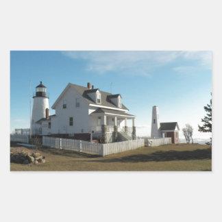 Pemaquid Point Lighthouse 11 Rectangular Sticker