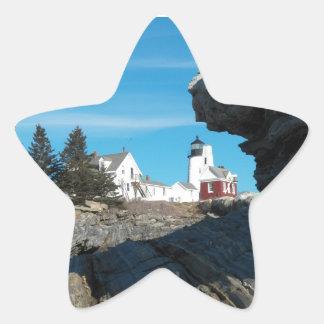 Pemaquid Point Lighthouse 22 Star Sticker