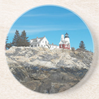Pemaquid Point Lighthouse 4 Drink Coaster