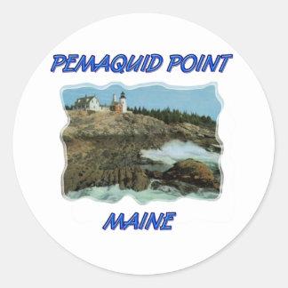 Pemaquid Point Lighthouse Classic Round Sticker