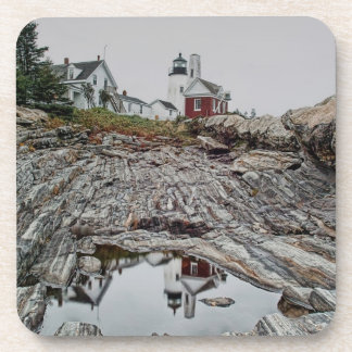 Pemaquid Point Lighthouse Cork Coaster