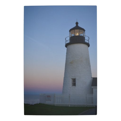 Pemaquid point lighthouse home decor metal photo print for Lighthouse home designs