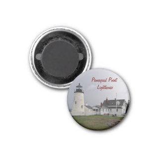 Pemaquid Point Lighthouse, Maine 1 Inch Round Magnet