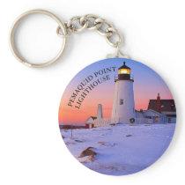 Pemaquid Point Lighthouse Maine Keychain
