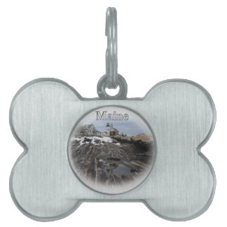 Pemaquid Point Lighthouse Maine Pet Name Tag