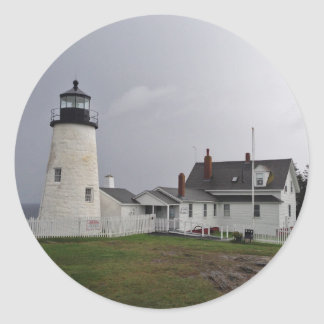 Pemaquid Point Lighthouse, Maine Round Sticker
