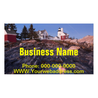 Pemaquid Point Lighthouse on The Coast Of Maine Business Card