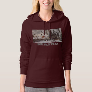 Pemaquid Point Lighthouse on The Coast Of Maine Hoodie