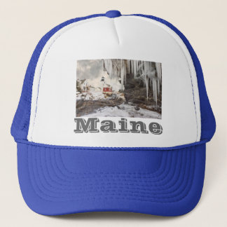 Pemaquid Point Lighthouse on The Coast Of Maine Trucker Hat