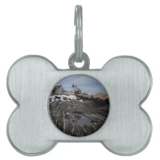 Pemaquid Point  Lighthouse Pet Name Tag