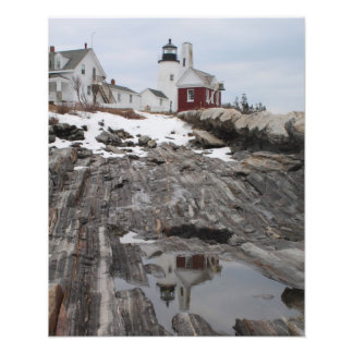 Pemaquid Point Lighthouse Reflection Photo Print