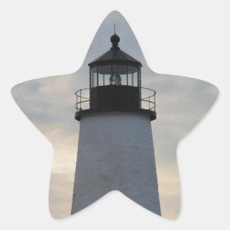 Pemaquid Point Lighthouse Star Sticker
