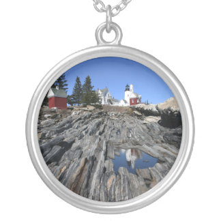 Pemaquid Reflection Round Pendant Necklace