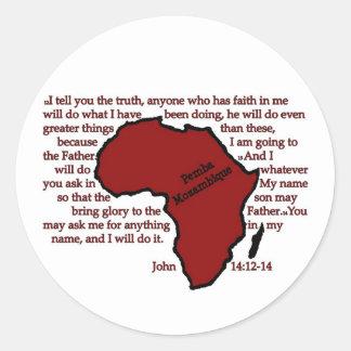 Pemba, Mozambique Scripture Classic Round Sticker