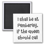 Pemberley 2 Inch Square Magnet