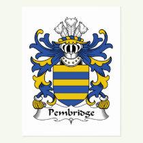 Pembridge Family Crest Postcard