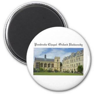 Pembroke Chapel Oxford University 2 Inch Round Magnet