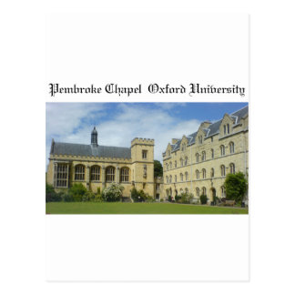 Pembroke Chapel Oxford University Postcard