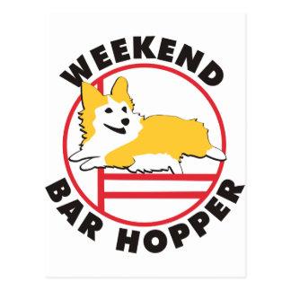 Pembroke Corgi Agility Weekend Bar Hopper Postcard