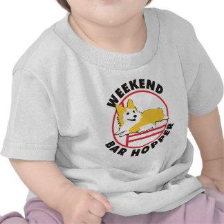Pembroke Corgi Agility Weekend Bar Hopper T-shirt