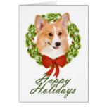 Pembroke Corgi Christmas Card