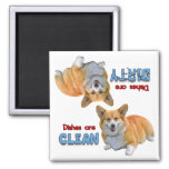 Pembroke Corgi Dog Lovers Dishwasher Magnet