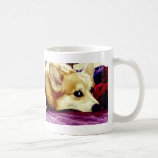 Pembroke Corgi Mug: Royal Purple Coffee Mug
