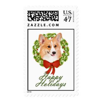 Pembroke Corgi Postage Stamps