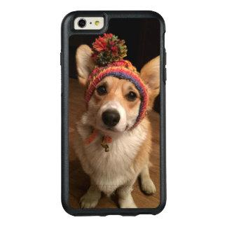 Pembroke del Corgi Galés que lleva un gorra tejido Funda Otterbox Para iPhone 6/6s Plus