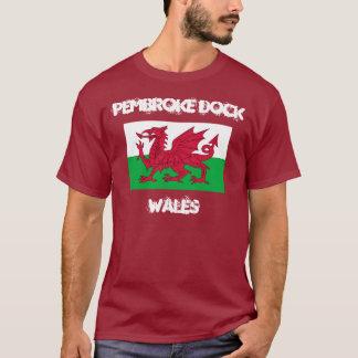 Pembroke Dock, Wales with Welsh flag T-Shirt