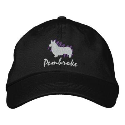 Pembroke garabateado gorra de beisbol bordada