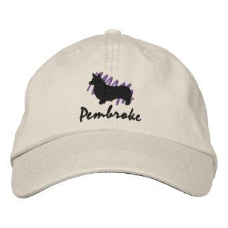 Pembroke garabateado gorro bordado