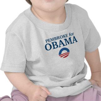 PEMBROKE para el personalizado de Obama su ciudad Camiseta
