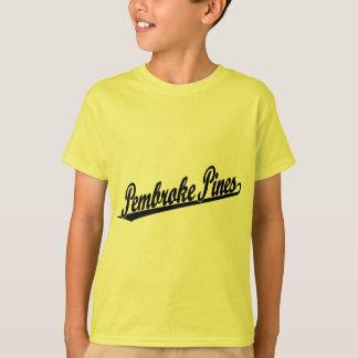 Pembroke Pines script logo in black T-Shirt