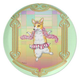 Pembroke Welsh Corgi Ballerina Plate