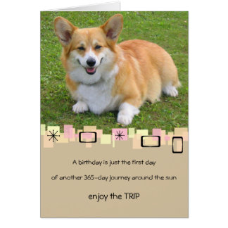 Pembroke Welsh Corgi Birthday Greeting Card