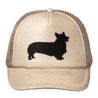 Pembroke Welsh Corgi (black) Trucker Hats