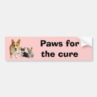 Pembroke Welsh Corgi Breast Cancer Bumper Sticker