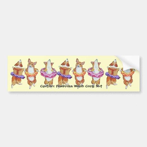 Pembroke Welsh Corgi Bumper Sticker Car Bumper Sticker