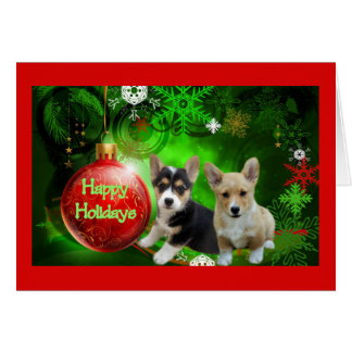 Pembroke Welsh Corgi Christmas Card Happy Holidays