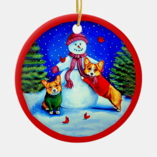 Pembroke Welsh Corgi Circle Ornament