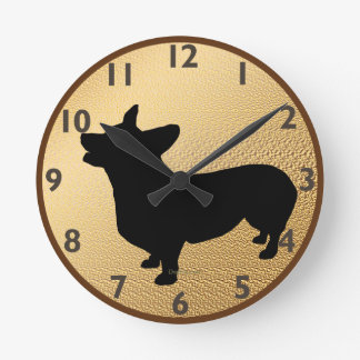 Pembroke Welsh Corgi Clock