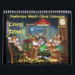 "Pembroke Welsh Corgi Corgi Tales Calendar Original<br><div class=""desc"">12 months of adorable original art of Corgis doing Corgi things by Lyn Hamer Cook&#169; .</div>"