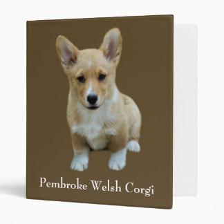 Pembroke Welsh Corgi Cute Binder